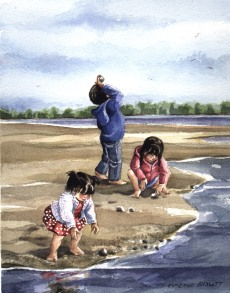 Treasures on the beach - Copy