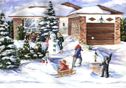Winter fun Lilians house